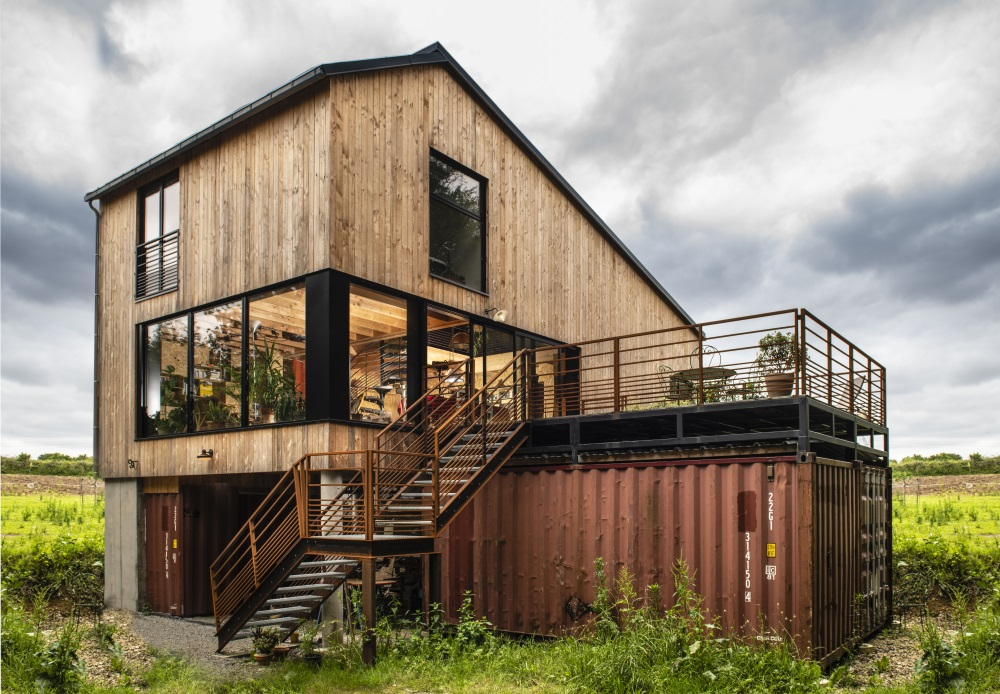 Projet maison passive en bois à Saint-Avé
