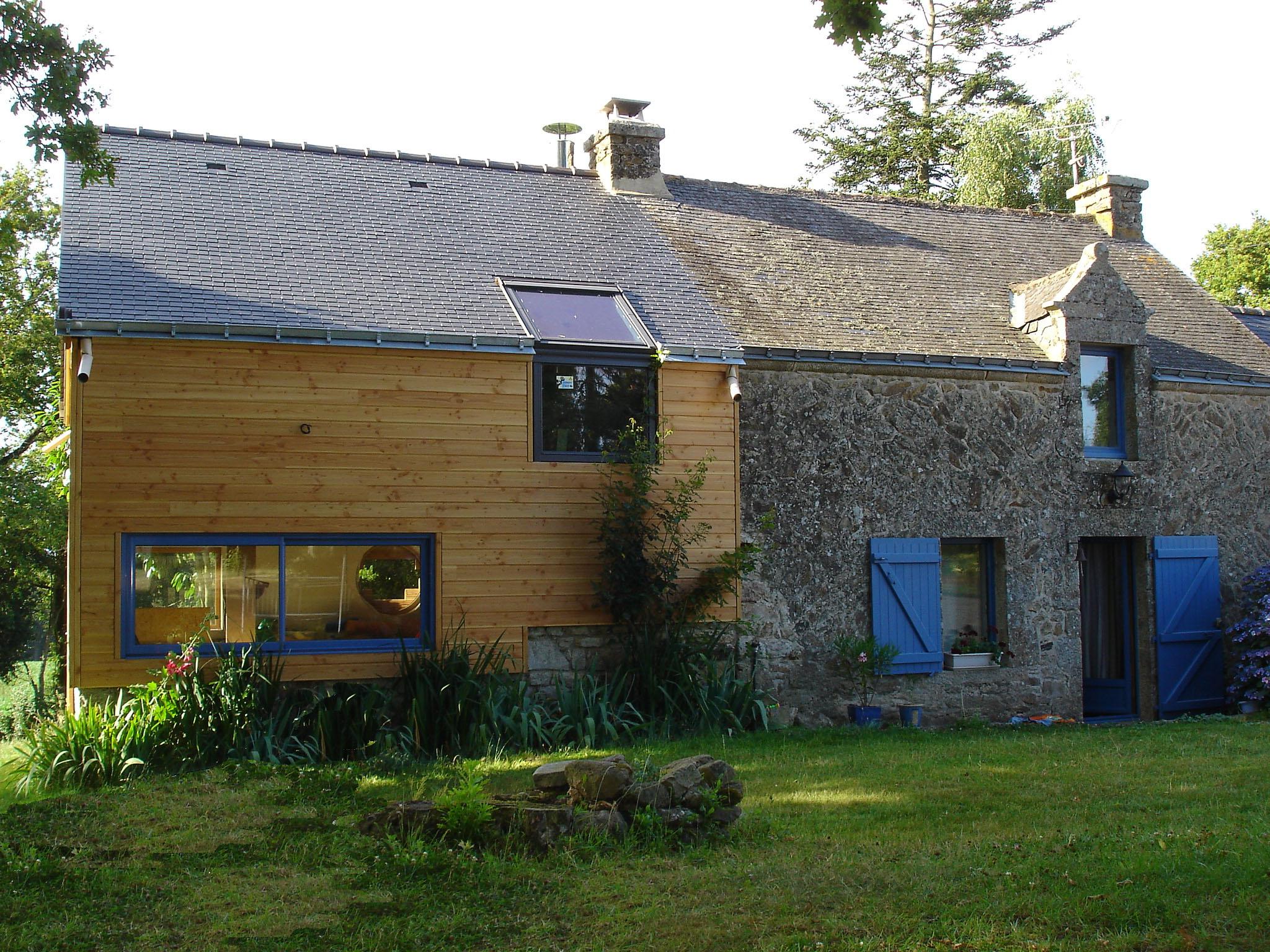 Projet extension en bois à Questembert