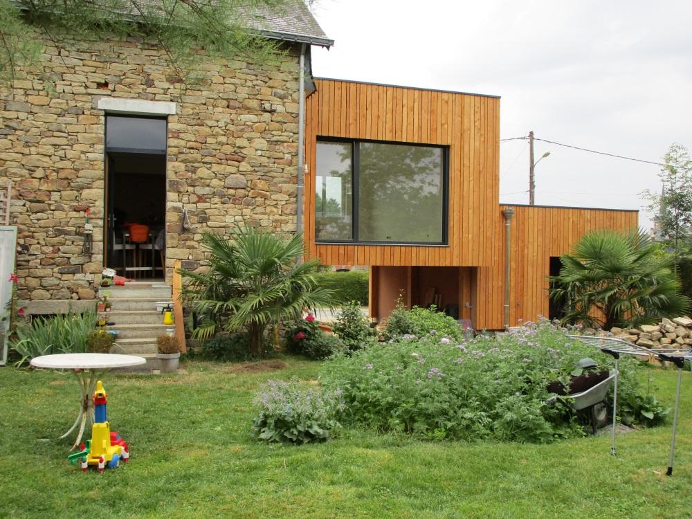 Projet extension en bois à Peillac